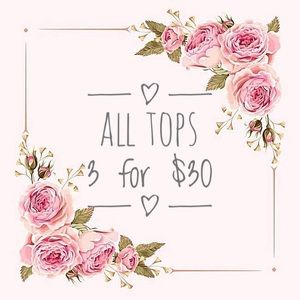 christy & co. Tops - 3 for $30 • Navy Floral Blouse w/ Crochet Neckline